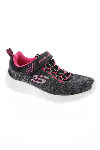 skechers chaussures fille de couleur noir