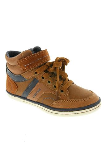 geox chaussures garçon de couleur marron