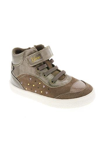 geox chaussures fille de couleur marron