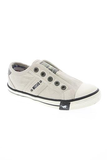 mustang chaussures garçon de couleur beige