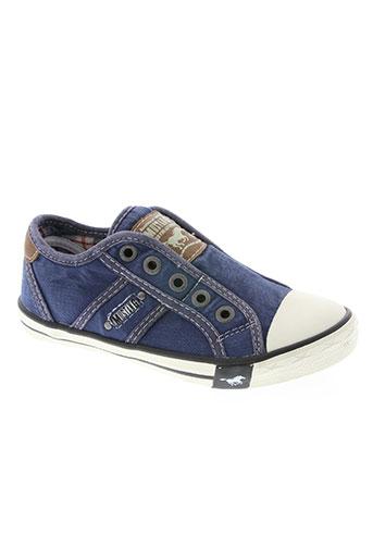 mustang chaussures garçon de couleur bleu