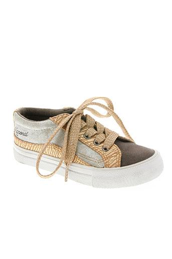 kaporal chaussures fille de couleur marron