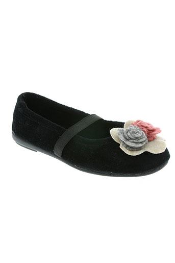 les p'tits oufs chaussures fille de couleur noir