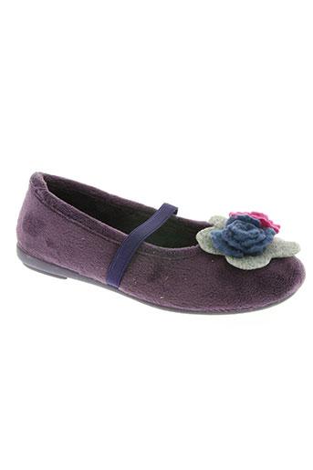 les p'tits oufs chaussures fille de couleur violet