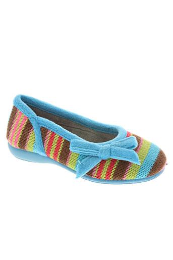 les p'tits oufs chaussures fille de couleur bleu