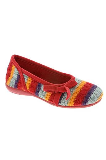 les p'tits oufs chaussures fille de couleur rouge