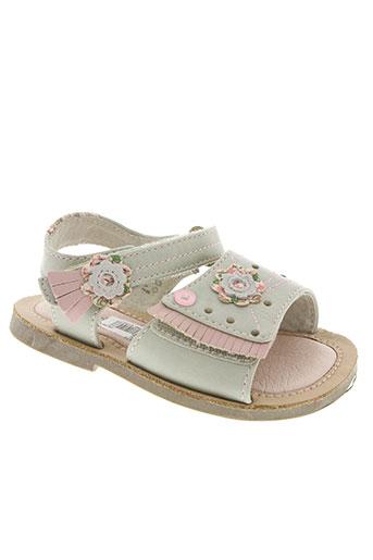 wipop chaussures fille de couleur beige