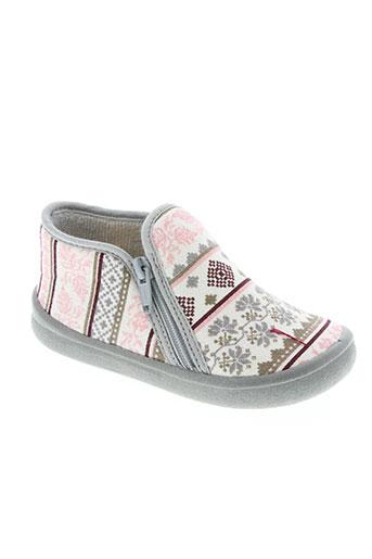 bulle de gomme chaussures fille de couleur gris