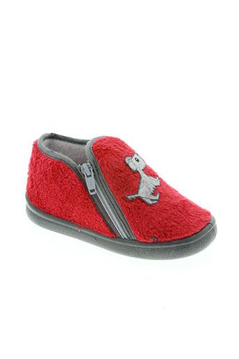 bulle de gomme chaussures enfant de couleur rouge