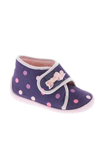 bulle de gomme chaussures fille de couleur violet