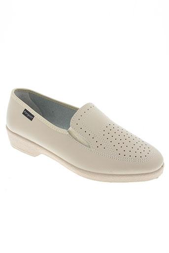 fargeot chaussures femme de couleur beige
