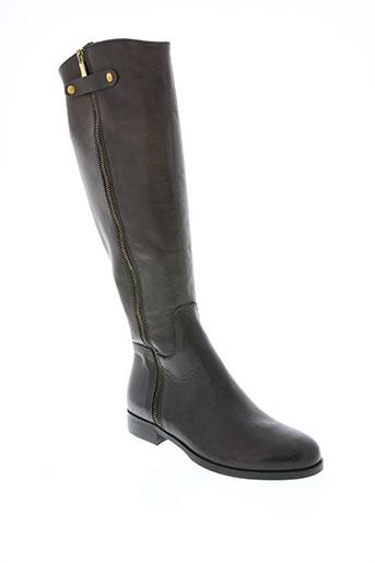 la zampa chaussures femme de couleur marron