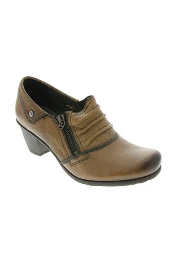 fluchos chaussures femme de couleur marron