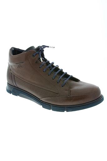 fluchos chaussures homme de couleur marron