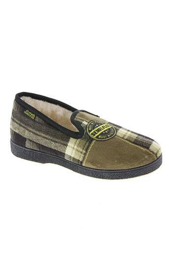 semelflex chaussures garçon de couleur vert