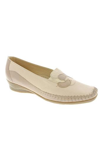 flexoline chaussures femme de couleur beige