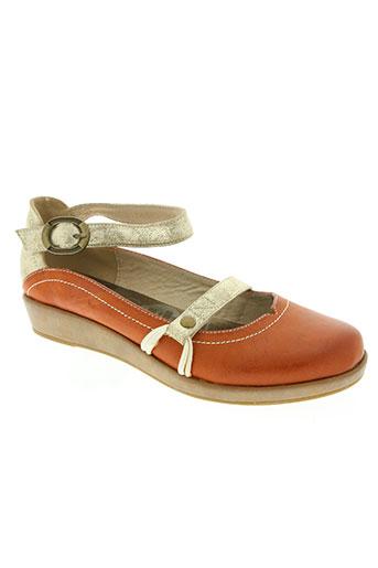 madison chaussures femme de couleur orange