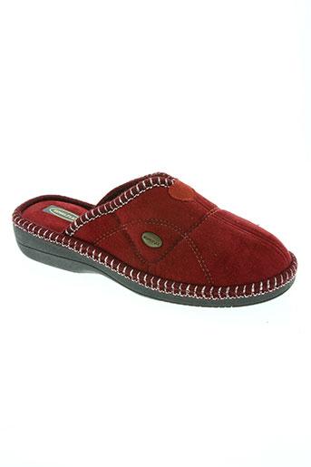 semelflex chaussures homme de couleur rouge