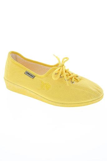 semelflex chaussures femme de couleur jaune