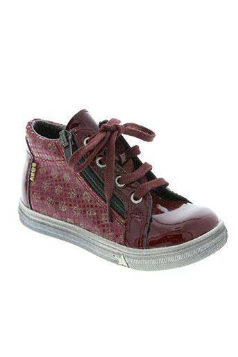 bopy chaussures fille de couleur rouge