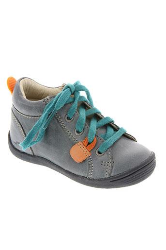 noël chaussures garçon de couleur bleu