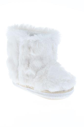 ikks chaussures fille de couleur blanc