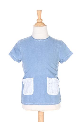 Blouse manches courtes bleu CARREMENT BEAU pour fille