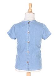 Blouse manches courtes bleu CARREMENT BEAU pour fille seconde vue