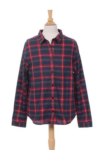 zadig EFFI_CHAR_1 voltaire chemises fille de couleur rouge