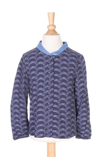 carrement beau chemises fille de couleur bleu