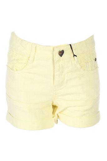ikks shorts / bermudas fille de couleur jaune