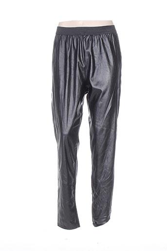 martine samoun pantalons femme de couleur noir