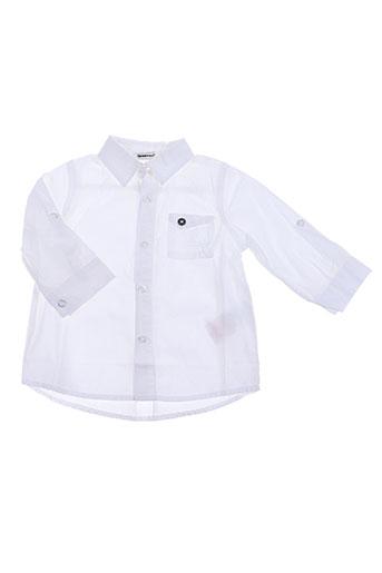 3 pommes chemises garçon de couleur blanc
