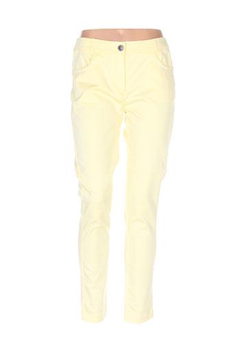 les filles de neaux pantalons femme de couleur jaune