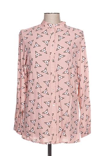 imitz chemises femme de couleur rose