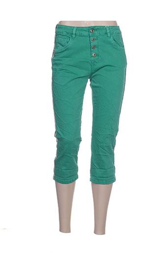 karostar pantacourts femme de couleur vert