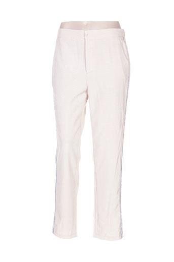 majolica pantalons femme de couleur beige