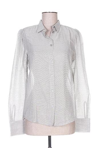 momoni chemises femme de couleur gris