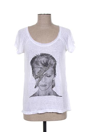 charlie joe t-shirts femme de couleur blanc