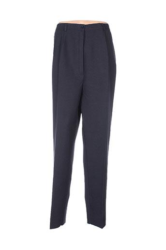 lucchini pantalons femme de couleur bleu
