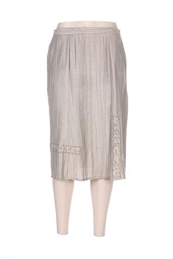 Jupe mi-longue beige ISA COUTURE pour femme