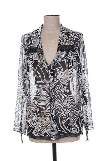 telmail chemises femme de couleur noir