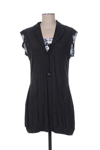griffonnage tuniques femme de couleur noir