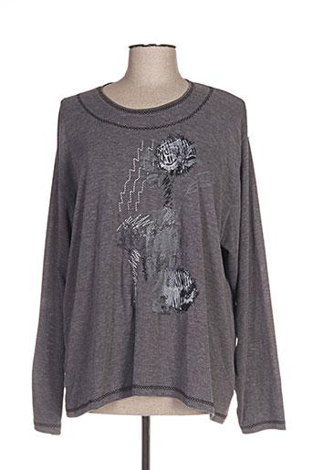 gd t-shirts femme de couleur gris