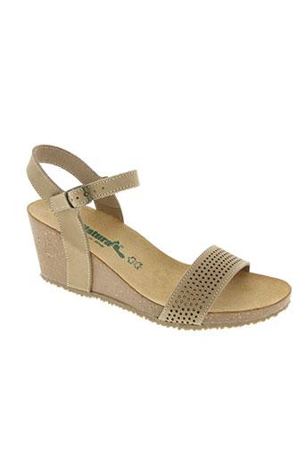 natura chaussures femme de couleur marron