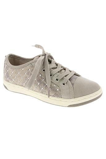 geox chaussures fille de couleur beige