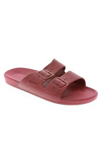 moses chaussures femme de couleur rouge