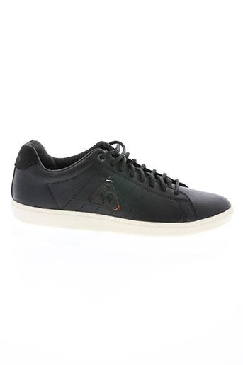 le coq sportif chaussures unisexe de couleur noir