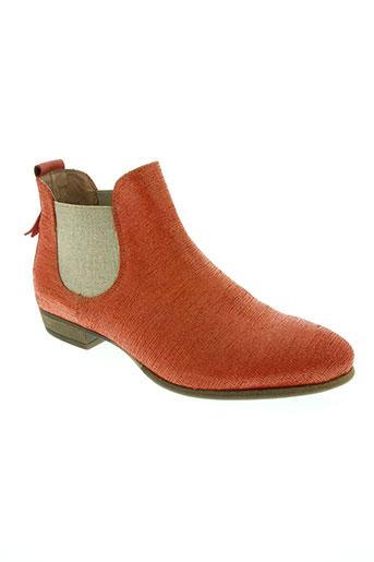 coque terra chaussures femme de couleur rouge