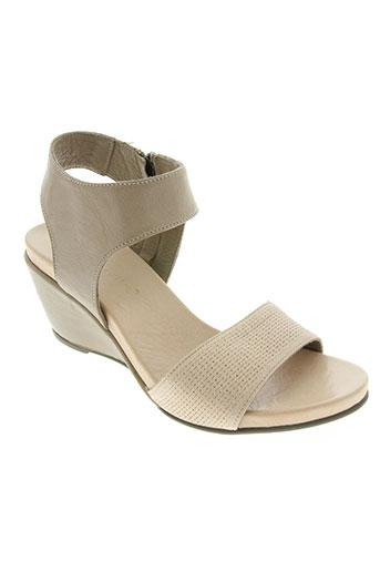 lune & l'autre chaussures femme de couleur beige
